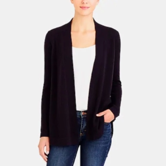 J. Crew Factory Sweaters - J Crew open front wool duster long cardigan